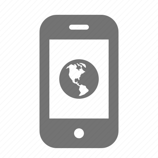 device, globe, internet, phone, portable, smart, world icon
