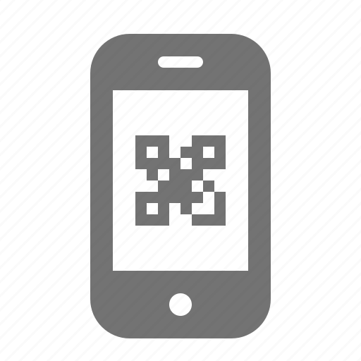 code, device, internet, phone, portable, qr, smart icon