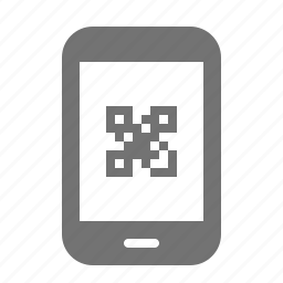 code, device, internet, media, portable, qr, tablet icon