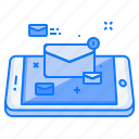 concept, email, letter, mail, message, mobile, text icon