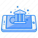 bank, coin, concept, finance, income, mobile, money icon