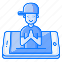 concept, culture, greeting, mobile, namste, tradition, welcome icon