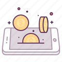 coin, concept, currency, dollar, finance, mobile, money icon