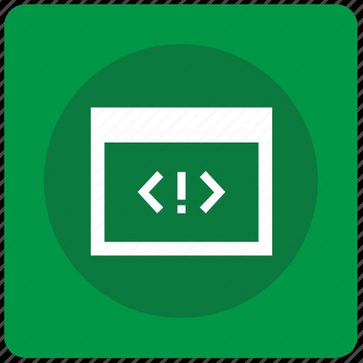 code, error, mobile, program, source, tag, window icon