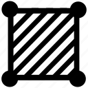 area, fill, hatch, hatching, rectangle icon