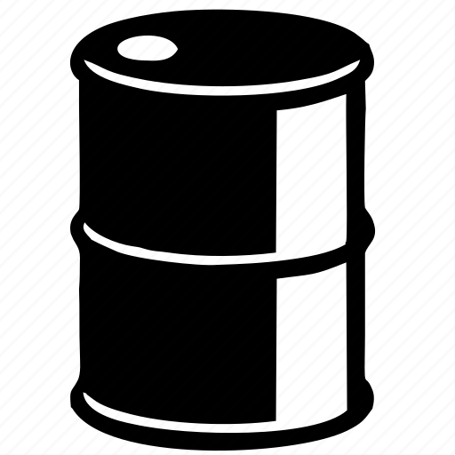 barrel, benzine, fuel, gasoil, gasolene, gasoline, metal, oil, petrol, storage icon