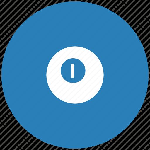 ball, billiard, blue, game, round icon
