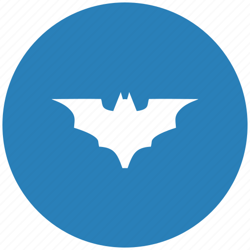 bat, batman, blue, round, vampire icon