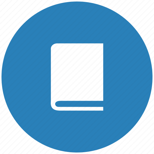 bible, blue, book, glassary, round icon