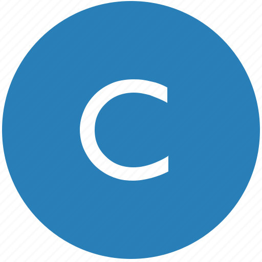 c, keyboard, latin, letter, round, text, uppercase icon