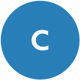 c, keyboard, latin, letter, lowcase, round icon