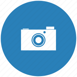 blue, camera, digital, photo, round icon