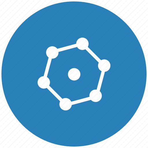 blue, complex, figure, geometry, round icon