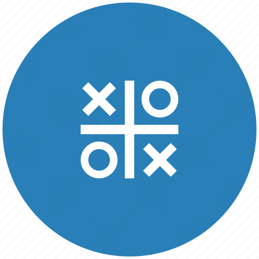 blue, cross, game, round, zero icon