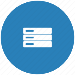 blue, database, round, server, storage icon