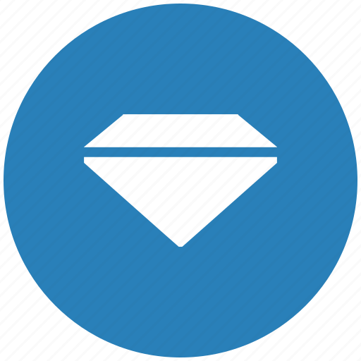 blue, brilliant, diamond, round icon