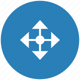 blue, cursor, drag, drop, round icon