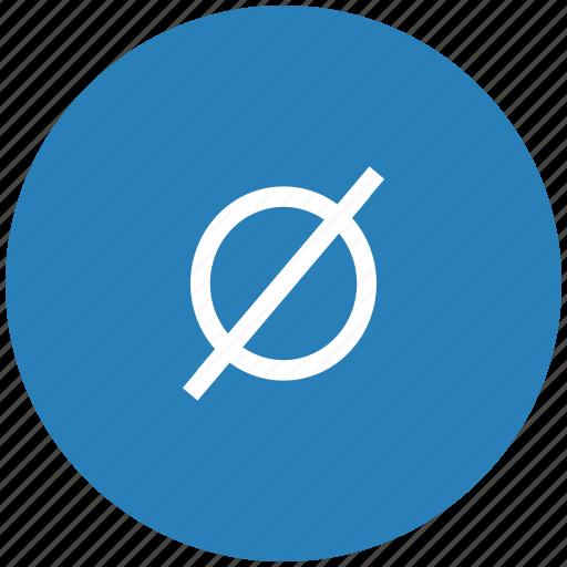 blue, empty, mathematics, round, set icon