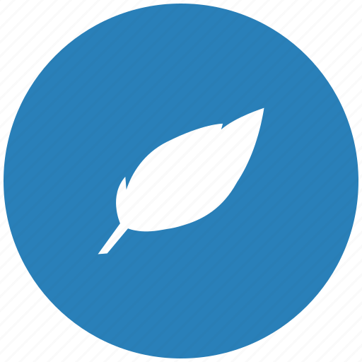 art, blue, feather, pen, round icon