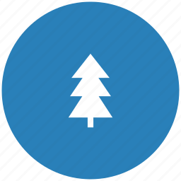 blue, fir, forest, round, tree icon