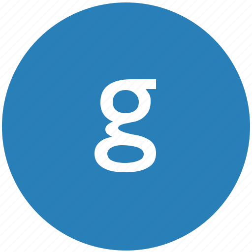 g, keyboard, latin, letter, lowcase, round icon