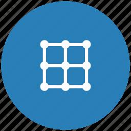 alphabet, blue, grid, image, j, keyboard, latin icon