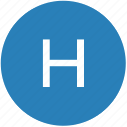 h, keyboard, latin, letter, round, text, uppercase icon