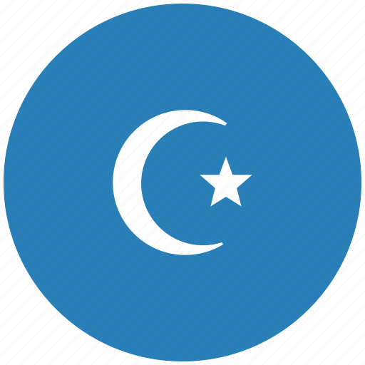 blue, islam, religion, round icon