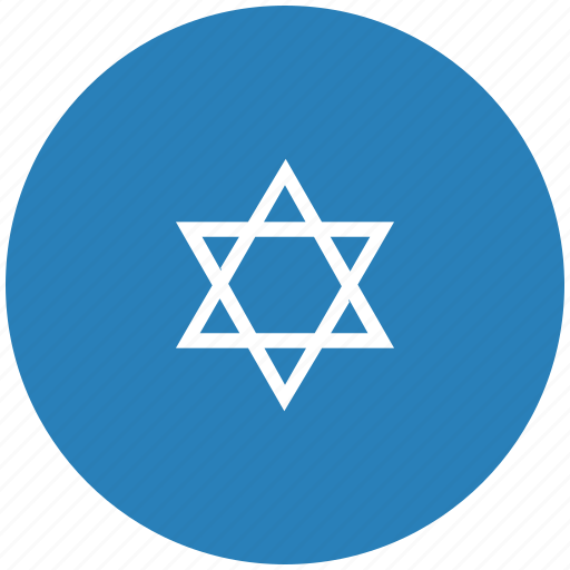blue, israel, religion, round icon