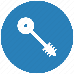 blue, key, pass, round icon