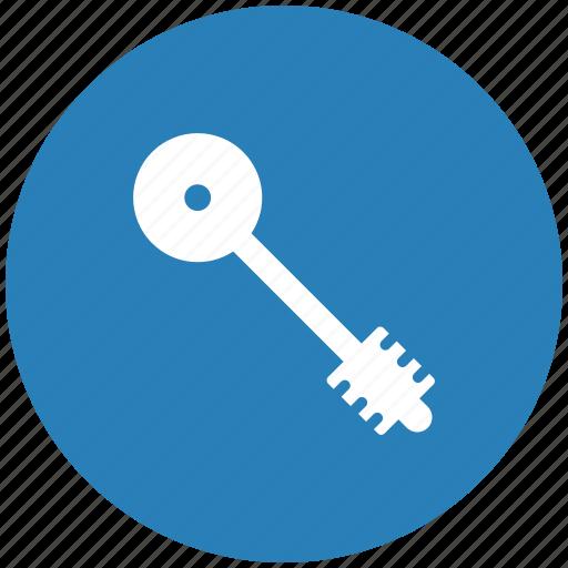 blue, key, pass, round icon