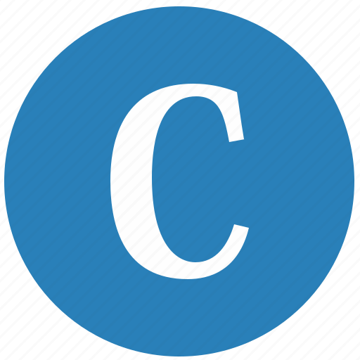 c, keyboard, latin, letter, round, uppercase icon