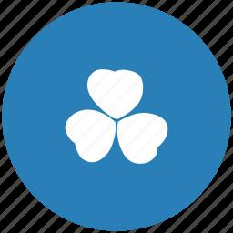 blue, ireland, leaf, nature, round icon