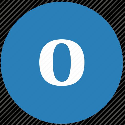 keyboard, latin, letter, lowcase, o, round icon