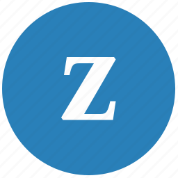 keyboard, latin, letter, lowcase, round, z icon