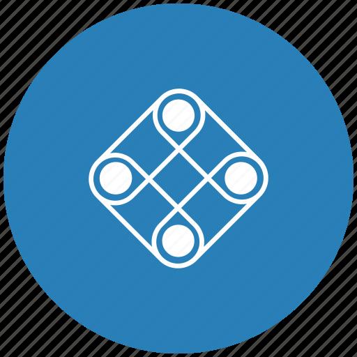 blue, game, logic, play, round icon