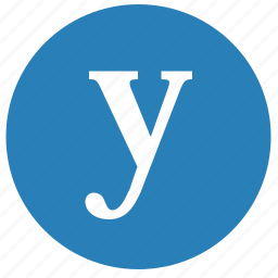 alphabet, latin, letter, lowcase, round, y icon