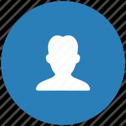 blue, body, man, person, round icon