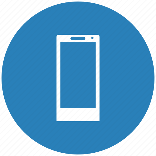 Blue, mobile, phone, round icon | Icon search engine