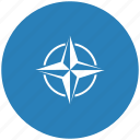 alliance, blue, nato, round icon