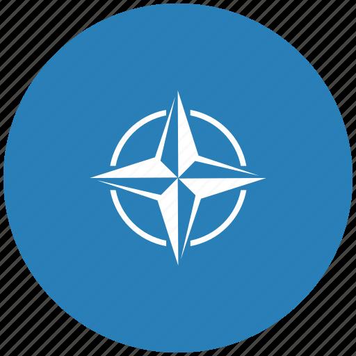 alliance, blue, nato, round icon