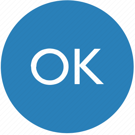 accept, complete, enter, keyboard, ok, round icon