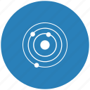 blue, model, orbit, round, space icon