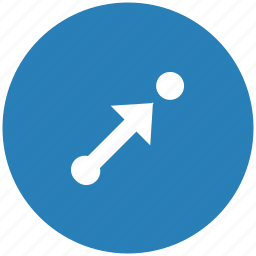 aim, blue, pointer, round, target, way icon