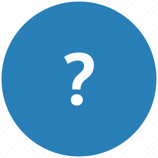 ask, blue, quest, question, round icon