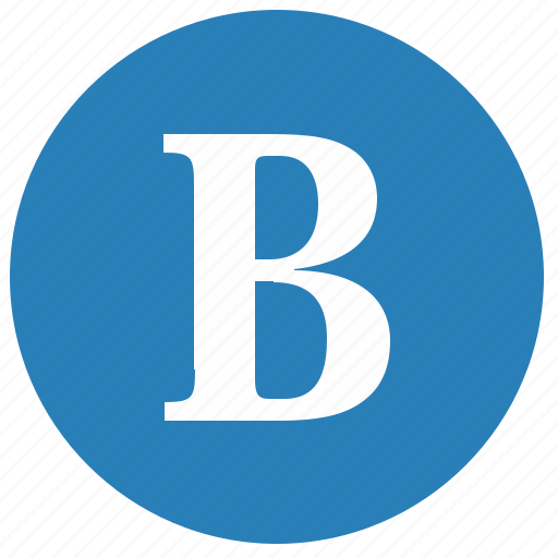 aphabet, b, latin, letter, round, uppercase icon