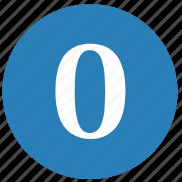 keyboard, keypad, number, round, zero icon