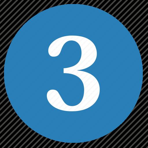 keyboard, keypad, number, round, three icon