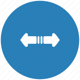 blue, horizontal, round, scroll icon