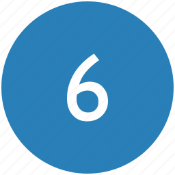 keyboard, number, round, six icon